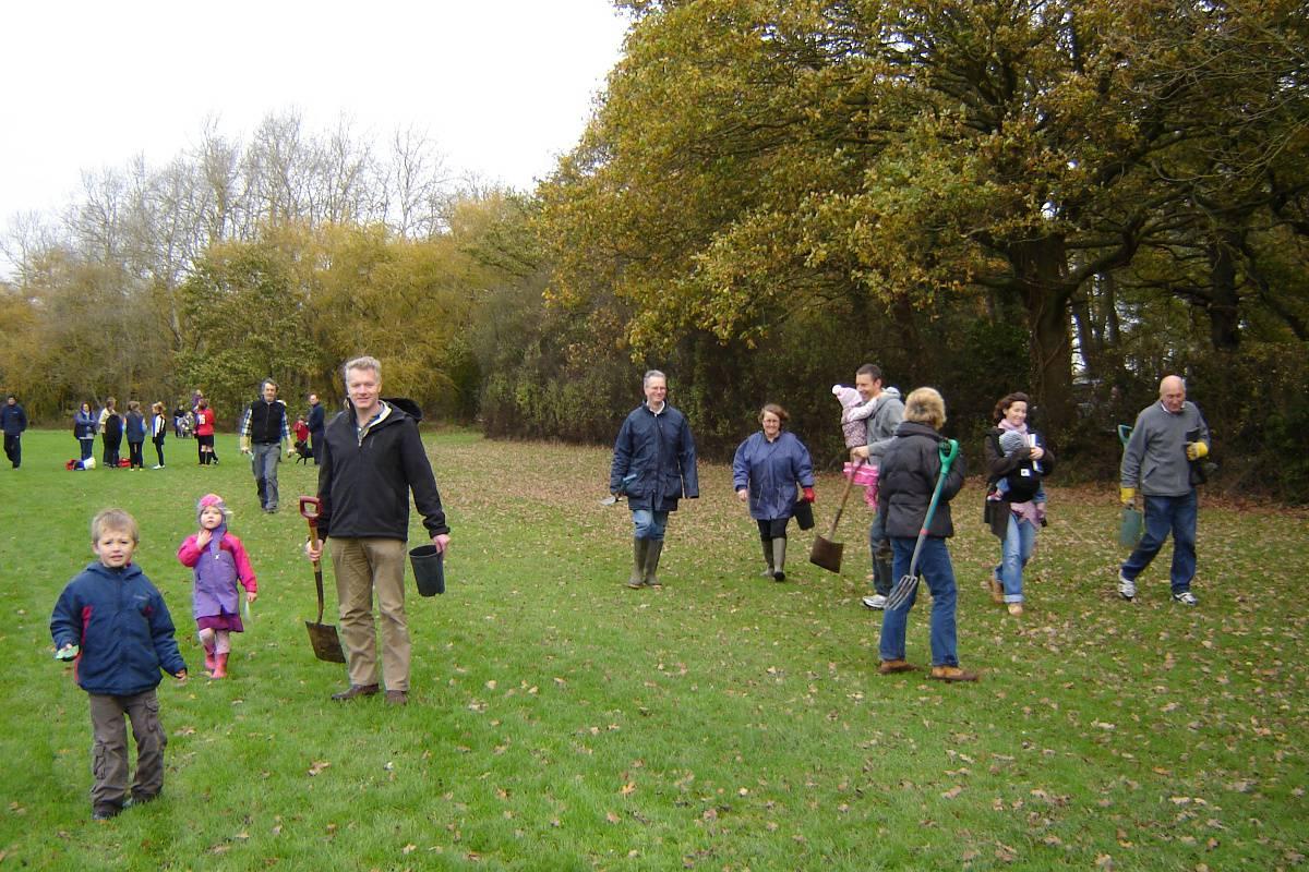 Twyford Orchard Planting Nov 2011
