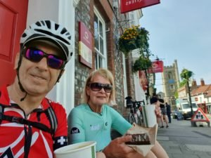 At last, a cycle ride with a coffee and cake break!