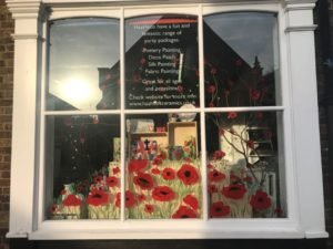 Remembrance Window Display at HaaHoos