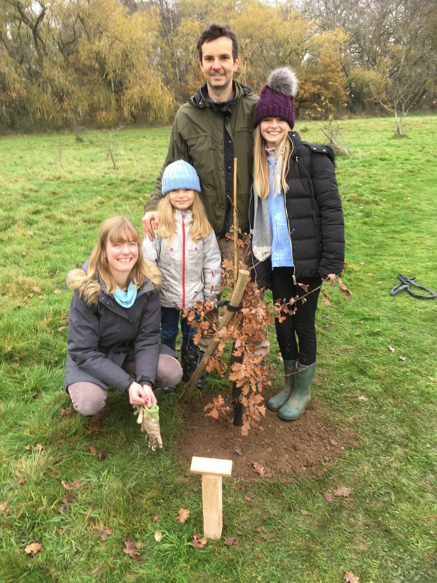 Howard Family with their Tree